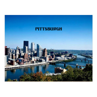 Pittsburgh, Pennsylvania skyline photograph Postcard