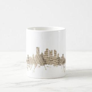 Pittsburgh Pennsylvania Skyline Sheet Music Citysc Coffee Mug