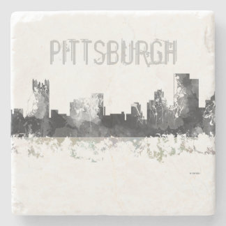 PITTSBURGH PENNSYLVANIA SKYLINE - Stone Coaster