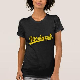 Pittsburgh script logo in gold T-Shirt