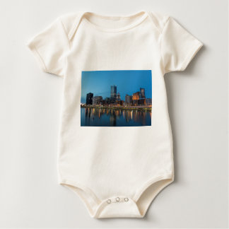 Pittsburgh Skyline at Dusk Baby Bodysuit