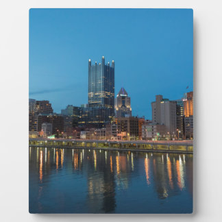 Pittsburgh Skyline at Dusk Photo Plaques
