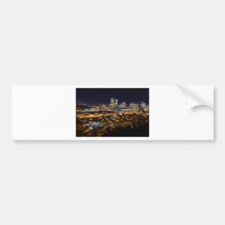 Pittsburgh Skyline at Night Bumper Sticker