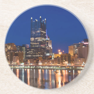 Pittsburgh Skyline at Night Drink Coasters