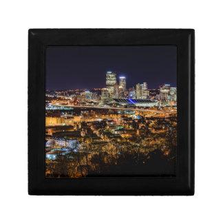 Pittsburgh Skyline at Night Gift Box