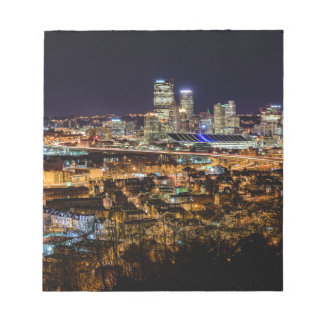 Pittsburgh Skyline at Night Notepad