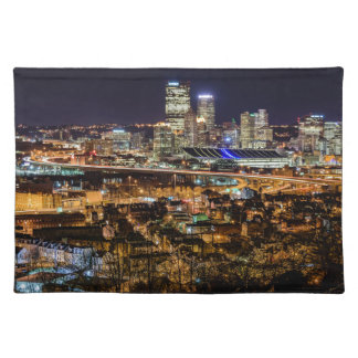 Pittsburgh Skyline at Night Placemat