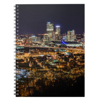 Pittsburgh Skyline at Night Spiral Notebook