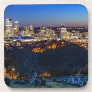 Pittsburgh Skyline at Sunset Coaster