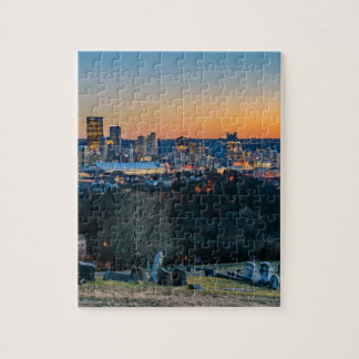 Pittsburgh Skyline at Sunset Jigsaw Puzzle
