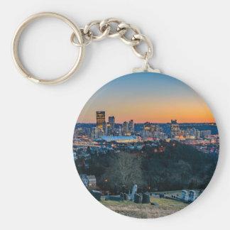 Pittsburgh Skyline at Sunset Key Ring