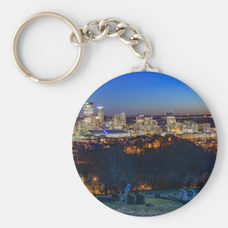 Pittsburgh Skyline at Sunset Key Ring
