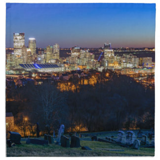 Pittsburgh Skyline at Sunset Napkin