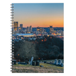 Pittsburgh Skyline at Sunset Notebook