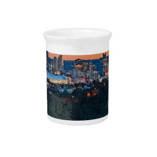 Pittsburgh Skyline at Sunset Pitcher