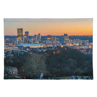 Pittsburgh Skyline at Sunset Placemat