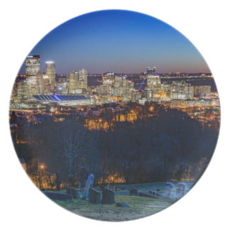 Pittsburgh Skyline at Sunset Plate