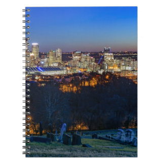 Pittsburgh Skyline at Sunset Spiral Notebook