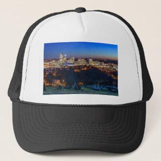Pittsburgh Skyline at Sunset Trucker Hat