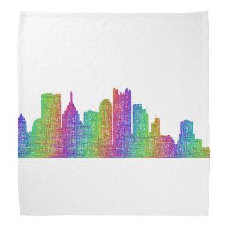 Pittsburgh skyline bandana