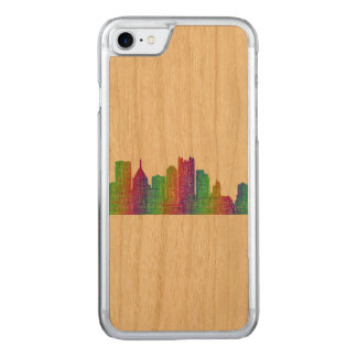 Pittsburgh skyline carved iPhone 7 case