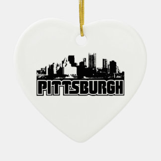 Pittsburgh Skyline Ceramic Ornament