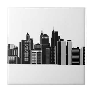 Pittsburgh Skyline Ceramic Tile