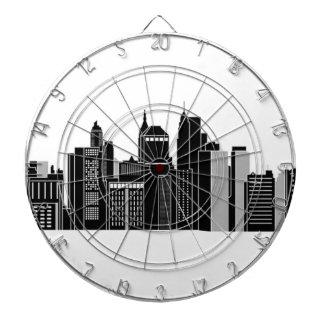 Pittsburgh Skyline Dartboard