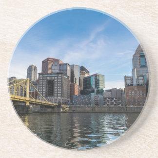 Pittsburgh Skyline Drink Coaster