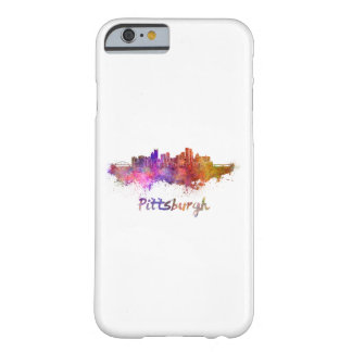 Pittsburgh skyline in watercolor barely there iPhone 6 case