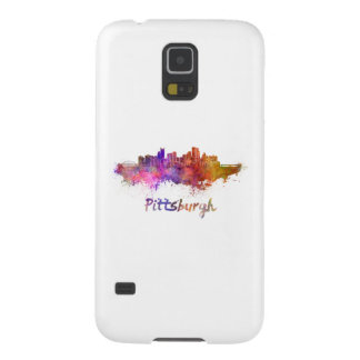 Pittsburgh skyline in watercolor case for galaxy s5