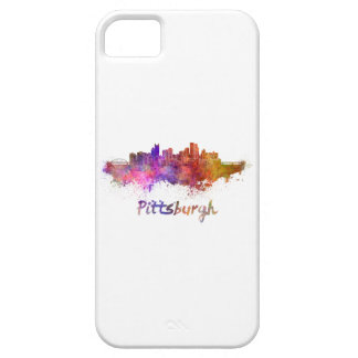Pittsburgh skyline in watercolor iPhone 5 cover