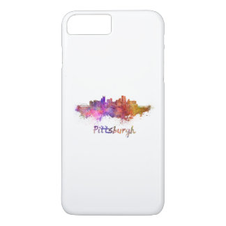 Pittsburgh skyline in watercolor iPhone 7 plus case
