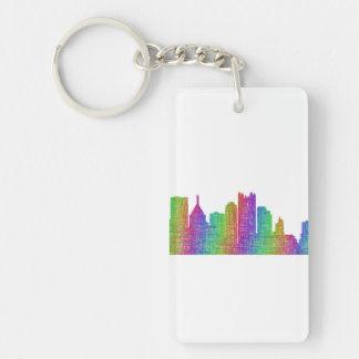 Pittsburgh skyline key ring