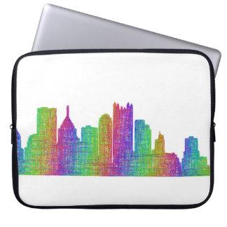 Pittsburgh skyline laptop computer sleeve