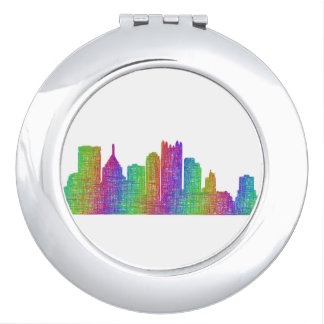 Pittsburgh skyline mirrors for makeup