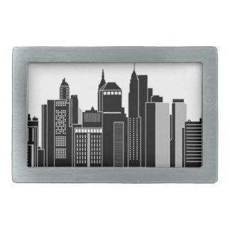 Pittsburgh Skyline Rectangular Belt Buckles