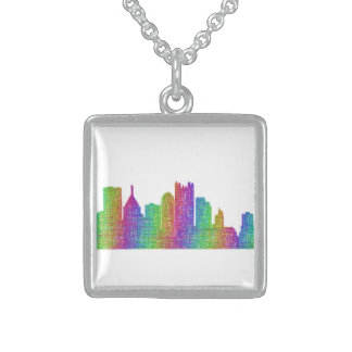 Pittsburgh skyline sterling silver necklace