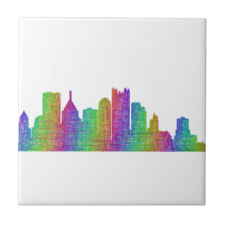 Pittsburgh skyline tile