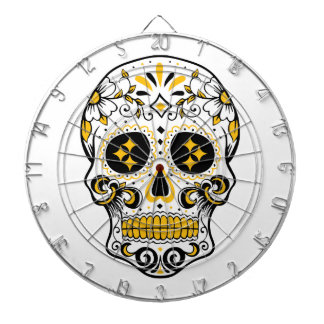 Pittsburgh Sugar Skull Dartboard