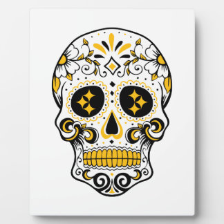 Pittsburgh Sugar Skull Display Plaques