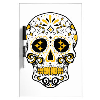 Pittsburgh Sugar Skull Dry Erase Board