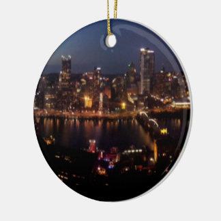 Pittsburgh via Monongahela Incline Ceramic Ornament