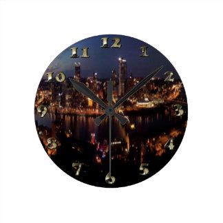 Pittsburgh via Monongahela Incline Round Clock
