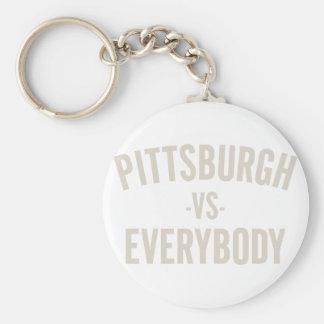Pittsburgh Vs Everybody Key Ring