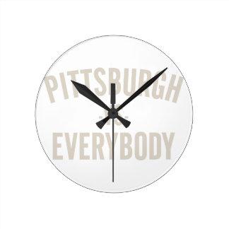 Pittsburgh Vs Everybody Round Clock