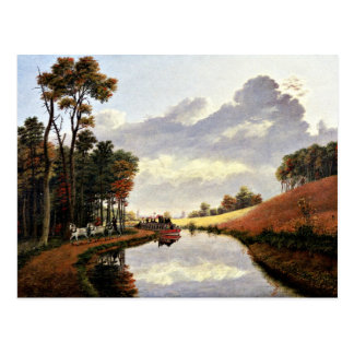 Pittsford on the Erie Canal painting Postcard