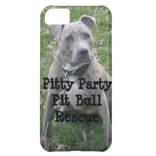 Pitty Party Pit Bull Rescue iPhone Case Cover For iPhone 5C