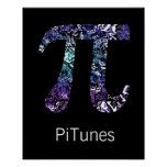 PiTunes ~ Funny Math and Music Geek Poster