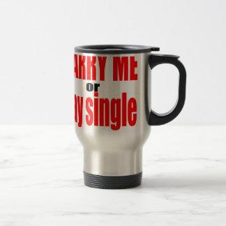 pity pickup proposal marry single couple joke quot travel mug
